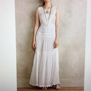 Anthropologie White Annabelle Maxi Dress Sz 2